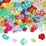 BELLE VOUS Cristales para Manualidades Acrílico (Pack de 300) Colores Variados - Piedras Decoracion Diamantes Falsos para Bodas, Decor de Mesa, Relleno Jarrones – Gemas de Plástico para Manualidades