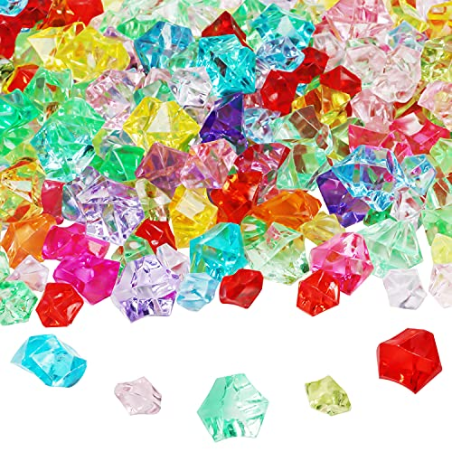 Belle Vous Acrylic Ice Crystals (300 Pack) - Assorted Colours - Fake...