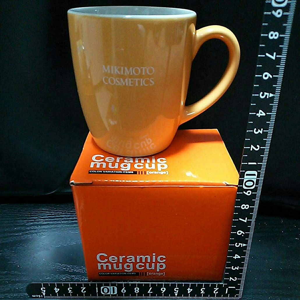 表向き偶然の送る陶磁製 ミキモトコスメティック セラミック マグカップ オレンジ