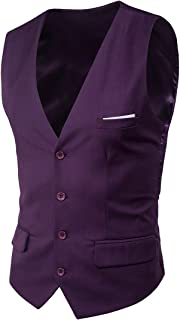 con cravatta set regalo da 3 pezzi gilet da uomo in tinta unita papillon Retreez