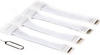 6-Pin to Cut-End Extension Connector for Philips Hue Lightstrip Plus (2 in/50 mm, 4 Pack, White)