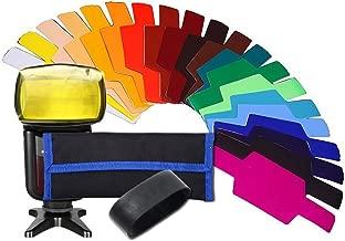Weiernuo 20 Color Flash Gels Filter Strobist Flash Color Lighting Gel Pop up Flash Diffuser Soft Box Filter Diffuser Gel Color Card for Canon Nikon Sony YONGNUO GODOX VILTROX Pixel Flash Speedlite