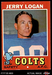 1971 Topps # 134 Jerry Logan Baltimore Colts (Football Card) Dean's Cards 5 - EX Colts