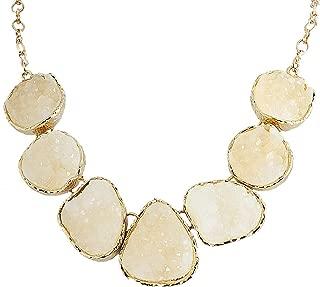 geode statement necklace