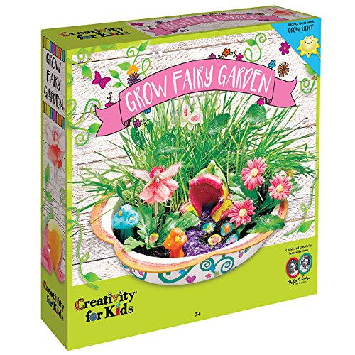 Grow Your Own Fairy Garden by Creativity for Kids, Including Soil, Seeds, Paints, Gems, Pixie Dust and Everything You Need to Grow Your Own Magical, Enchanted Fairy Garden, Indoors or Outdoors