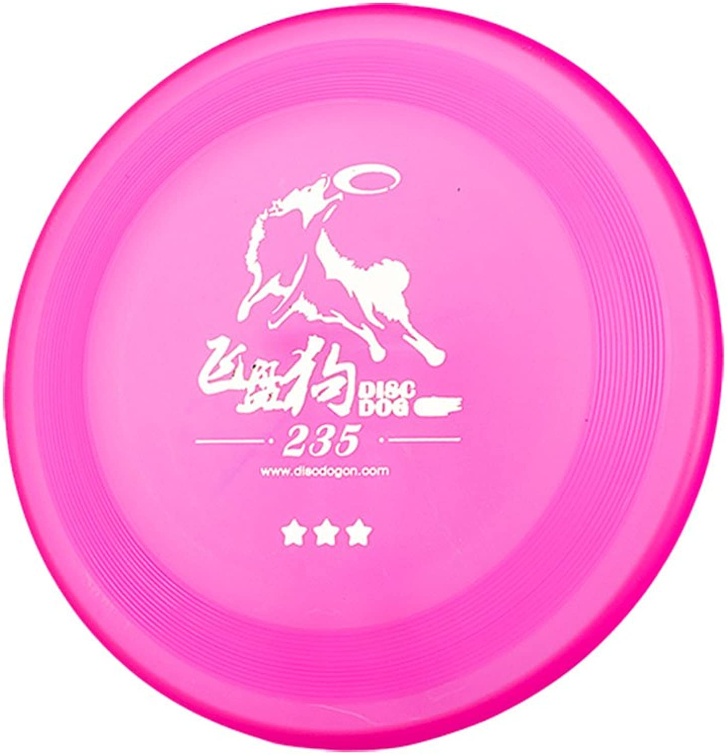 DISCDOG 3Star Toughness Dog Flying Disc Dog Play Toy Frisbee Training(Pink,91 4 Inch)