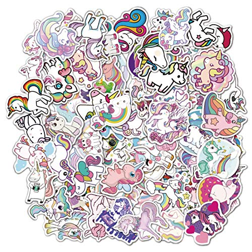 100 unids unicornio My Little Cartoon pegatinas Pony lindo personalizado PVC impermeable etiqueta portátil taza agua casco guitarra DIY niños etiqueta
