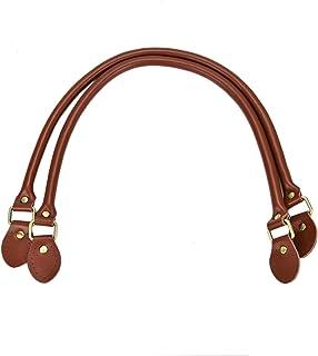 Timoo 2pcs Handbag Handles Genuine Leather Shoulder Strap for Handbags Purse DIY