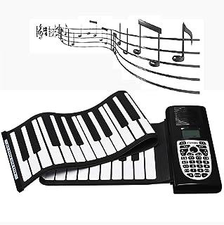 بيانو مطلي يدويًا WVWTWB ولوحة مفاتيح محمولة 49/61 للآلات الذكية المبتدئة، لغز الموسيقى الإلكترونية الآمن (اللون: 61 مفتاح)