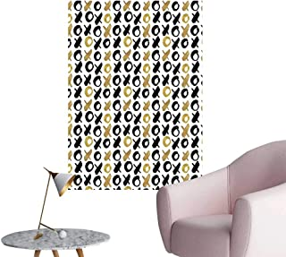 Modern Decor Digital XOXO Nought and Crosses Love Valentines Pattern in Different Colors Gold Black Ideal Kids Decor or Adults,24