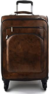 Trolley rigido pelle borsa pelle borsa viaggio borsa valigia pelle cabina bagaglio a mano uomo donna borsone aereo testa moro