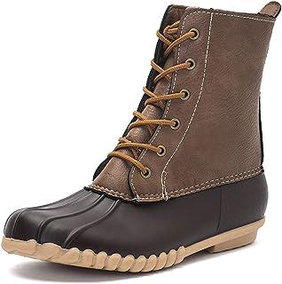 Women's Winter Duck Boots with Waterproof Zipper Rain...