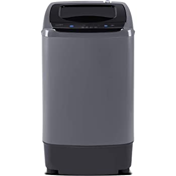 COMFEE' Portable Washing Machine, 0.9 cu.ft Compact Washer With LED Display, 5 Wash Cycles, 2 Built-in Rollers, Space Saving Full-Automatic Washer, Ideal Laundry for RV, Dorm, Apartment, Magnetic Gray