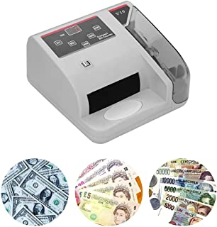 Aibecy Portable Mini Money Counter, Small Banknote Bill Detector, Handy Bill Cash Banknote Counting Machine with UV/MG/WM Counterfeit Detection 600 Bills Per Minute LED Display Screen