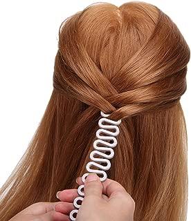 4 Pcs Styling Clip Bun Maker cheveux Twist tresse queue de cheval Outil accessoires miroir