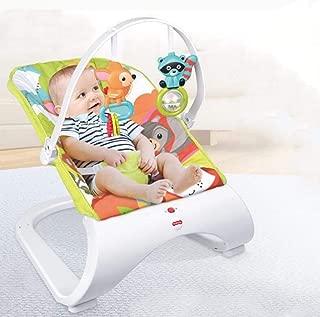 CWLLWC hamacas Bebes babybjorn,Silla de bebé música agitación de 0-2 años de Edad con 2 Piezas de Juguete Colgante
