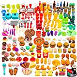 Catchstar Play Food Variety Toy Food Set Realistic Play Pretend Food Toy Colorful Plastic Food Durable Fake Toy Food Playset For Kids Girl Boy Toddler Children Baby Kitchen Educational Gift 340 Piece