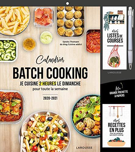 Calendrier batch cooking: Je cuisine 2 heures le dimanche pour toute la semaine