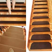 Staircase Carpet,1/4/8pcs Non-Slip Adhesive Carpet Stair Treads Mats Staircase Step Rug Stair Protection Cover Home Decor ...