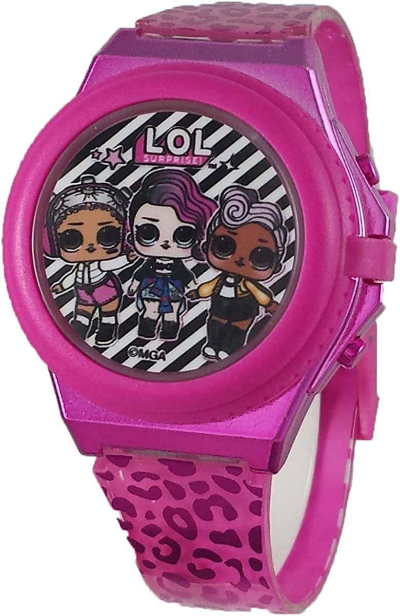 L.O.L. Surprise Light Up Pink Cover 2021 autumn and winter new Super popular specialty store Pop with Digital Watch
