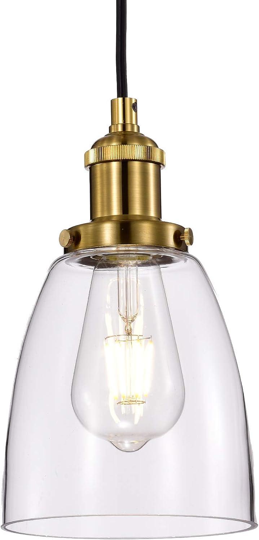 VIKASHING 1-Light E26 Dimmable Pendant Brass la Max 56% OFF Lighting Antique Popular overseas