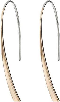Bevel Hoop Earrings