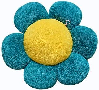 GTD-Cojines para Exterior, Silla de Comedor Cojín Silla de Oficina Cojín Flor en Forma de Almohadilla Diámetro de Aproximadamente 17.9 Pulgadas (1 Paquete) (Color : A)