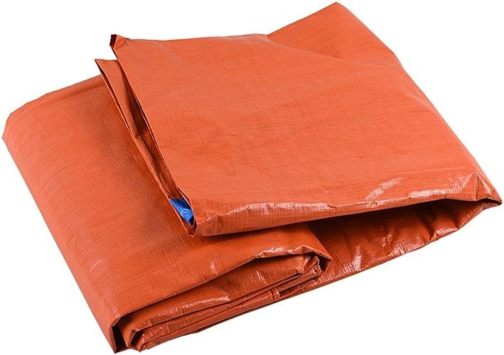 Tarpaulin HUO épaississez Le Tissu De Hangar De Bache De PE, Anti-UV Imperméable à l'eau, Base Universelle, Résistant Résistant à La Moisissure 160g   M2 (Couleur   bleu+Orange, Taille   8  10m)