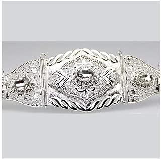 Decorative Belt Flower Metal Belt Jewelry Waist Chain Body Belly Chains Adjust Length Ethnic Wedding Waist Belts