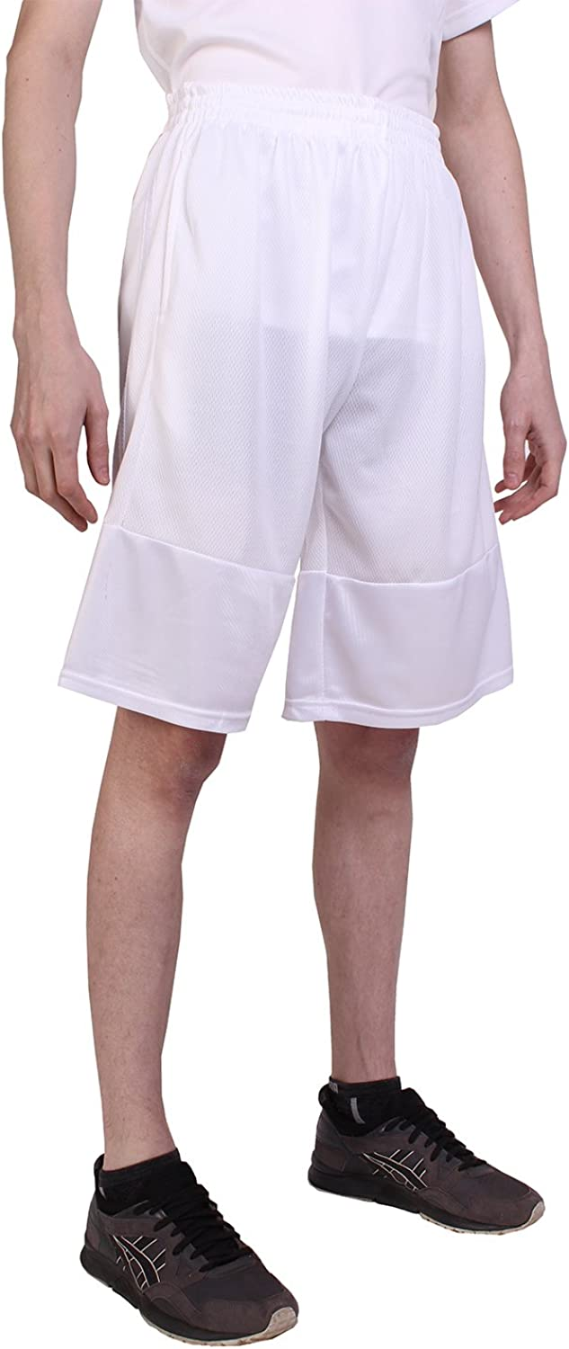Players Men's Long Athletic Mesh Shorts with Pockets