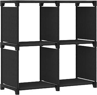 vidaXL Etagère d'Affichage 4 Cubes Bibliothèque Etagère de Rangement Organisateur Support de Rangement Maison Intérieur No...