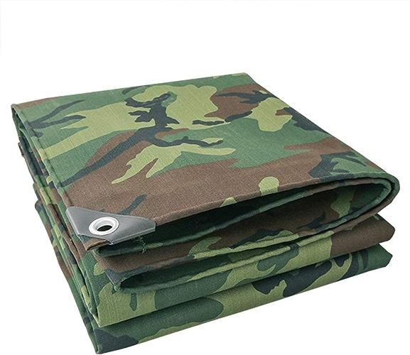12-Huisongda Tente extérieure bache Toile imperméable bache de Camping Tapis écran Solaire Tente Tissu Haute température Anti-age Camouflage Camouflage bache (Couleur   Camo, Taille   4x4M)