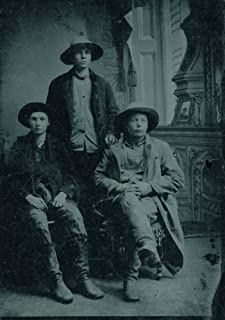 Tintype Photo Of Three Working Cowboys Ca 1870S - Early Tintype Of Three Real Working Cowboys With Great Hats Real Cowboy ...