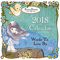 Precious Moments Forest Fairies Words To Live By 2018 Wall Calendar 171419 [並行輸入品]