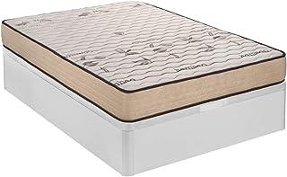 Santino Pack: Canapé Abatible Madera Blanco+ colchón Bamboo con Montaje Gratuito 150x190cm