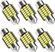 "6pcs 31mm 1.22"" Led DE3175 DE3021 Bulbs, Canbus Error Free 6000K White 3175 6428 DE3022 Festoon Bulb for Car Interior Dome..."