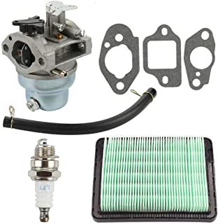 Ineedtech 16100-Z0L-023 Carburetor + Air Filter + Fuel Line + Spark Plug + Gasket for Honda GCV160 / GCV160LA / GCV160LE Engine & HRB216 / HRR216 / HRS216 / HRT216 / HRZ216 Lawn Mower