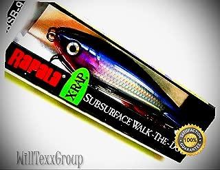 WillTexxGroup XRSB-9 Purple Shad X-Rap Subwalk Size 09 Rattling Fishing Lure XRSB09-PS for Fishing Bass Kayak Ice Saltwater Freshwater