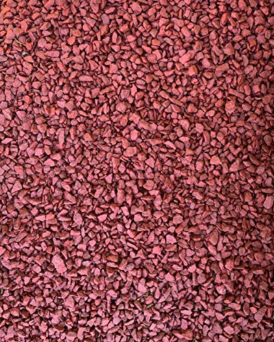 DECO Stones Dekorative Steine für den Garten - 10 kg Rot - Farbige Steine in Premium-Qualität