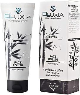 ELLUXIA, polish viso esfoliante naturale | vegan, cruelty-free | con carbone di bambù, perle di riso, olio d'oliva | senza...