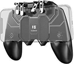 Mobile Game Controller [Six-Finger Operation] Portable Mobile Game Controller with 4 Triggers for PUβG/Call of Duty/Fotnite Rules of Survival Mobile Controller for 4.7-6.5