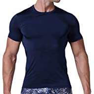 8f372b6f273 Karlywindow Mens Casual Solid Short Sleeve Lightweight Slim Fit Crew Neck T- Shirt