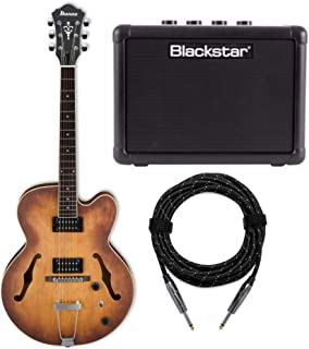 Ibanez AF55 Artcore Hollow-Body Electric Guitar with FLY 3 Amp and Knox Guitar Cable (3 Items)