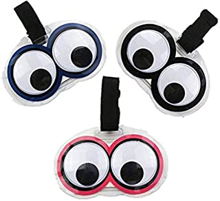 King&Pig 3pcs New Cute Eyes Luggage Tags Suitcase Luggage Tags Travel Accessories Baggage Name Tags