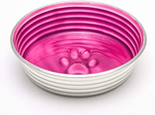 Loving Pets Heart Shaped Bamboo Bowl for Small Dogs and Cats, Cabernet