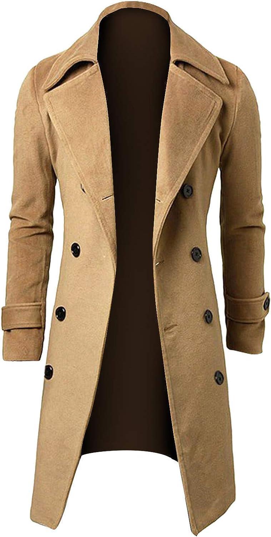 Special price Men's Direct sale of manufacturer Long Oversize Plus Fleece Jacket Style Lapel Coat British