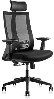 Ergonomic Adjustable Office Chair, High Back Computer Desk Chair with Lumbar Support, 3D Armrest, Headrest and Soft Seat Cushion Reclining Mesh Chair