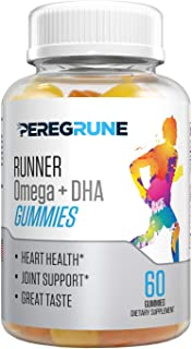 Runner Omega + DHA Gummy: Omega-3, Omega-6, Omega-9, DHA Plus Vitamin C | Heart & Joint Support for Runners | No Artificia...