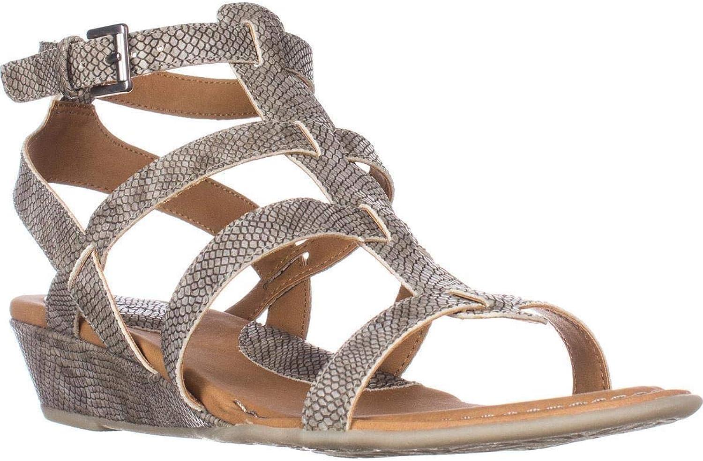 B.O.C. Womens Heidi Open Toe Casual Platform Sandals, Grey, Size 11.0