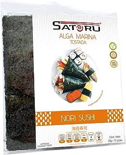 Satoru Alga Marina Nori, Característico Salado, 10 Piezas